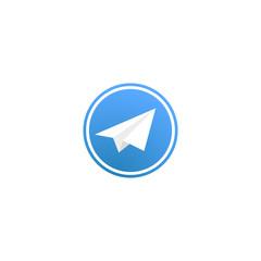 Social network. Telegram. Vector icon