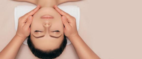 High angle shot of a face beautiful young woman enjoying a beauty treatment at a spa salon