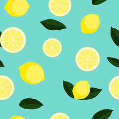 Abstract Lemon Seamless Pattern Background Vector Illustration