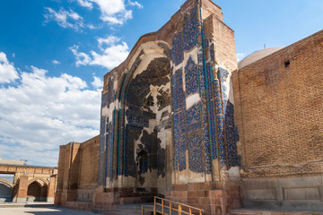 Blue Mosque (Goy Machid) in Tabriz, Iran. The mosque were constructed in 1465. Tabriz. East Azerbaijan province. Iran