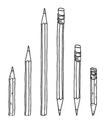 Pencils set illustration