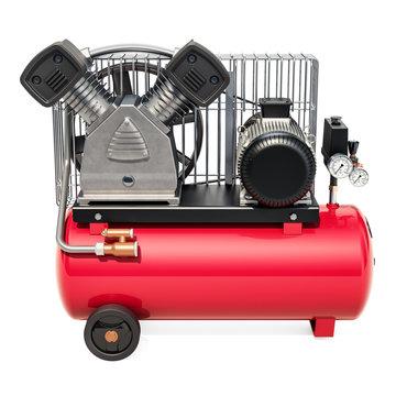 Tank air compressor, 3D rendering
