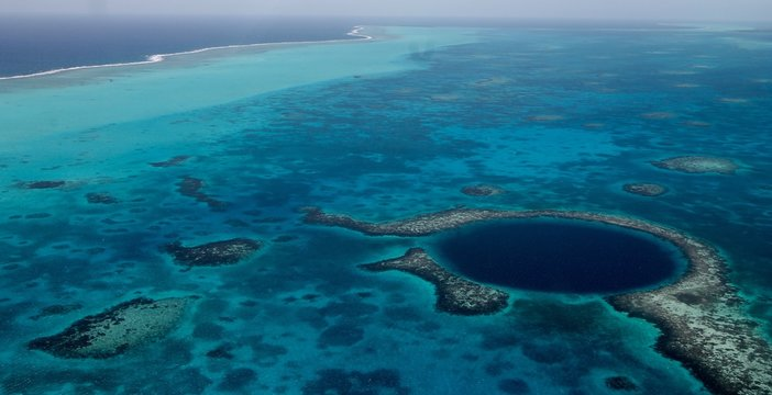 Aerial Photography Blue Hole, Belize