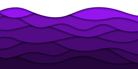 Vector realistic isolated purple paper cut layer background for decoration and covering. Concept of geometric abstract design. Wall mural