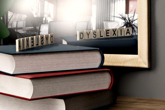 dyslexia concept medical background