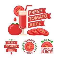 Tomato juice badge emblems