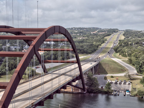 Texas bridge in hill country