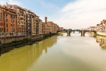 Arno River through Florence Italy