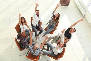 concept of successful work.creative team