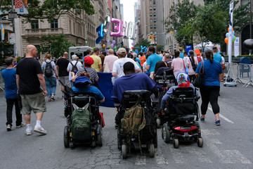 Stefan Henry attends the 2018 Disability Pride Parade in New York