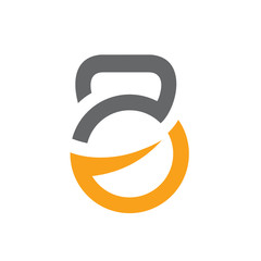 Gym Fitness Logo, Kettlebell Icon Vector Illustration