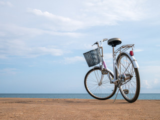 Bicycle beside the beach.