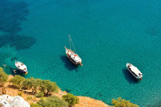 Mediterranean coastline in Turkey