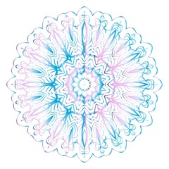 Beautiful round flower mandala. Vector illustration. Abstract.