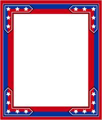 USA flag abstract Patriotic border.