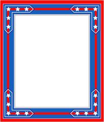 USA flag symbolism Patriotic border.