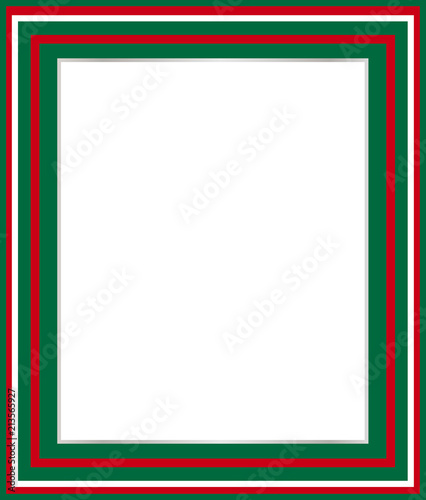 Italian green white red border for picture frames, menus, labels ...