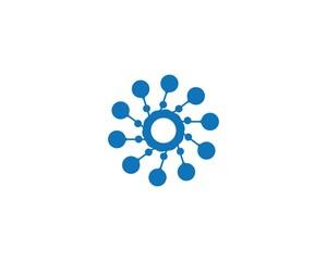 molecule logo icon vector design