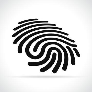finger print on white background