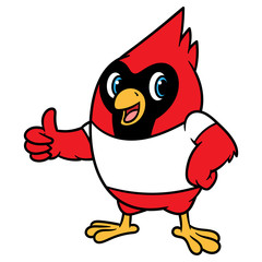 Cartoon Cardinal Bird Mascot