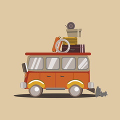 car for travel vector