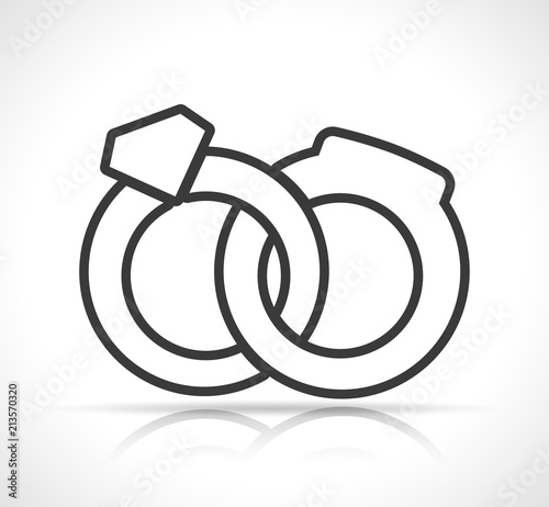 Wedding Rings Icon On White Background Stock Image And Royalty Free