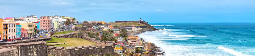 Panorama of San Juan, Puerto Rico Coastline Wall mural