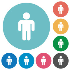 Male sign flat round icons