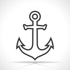 anchor icon on white background