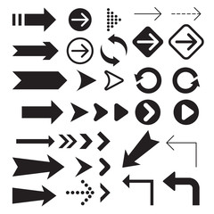 Arrow icons symbol collection.