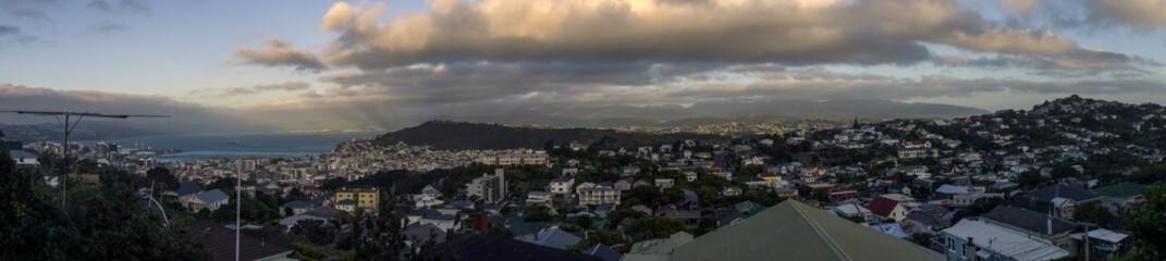Sunset over Wellington, New Zealand