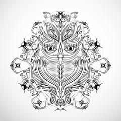 cute owl logo vector design
