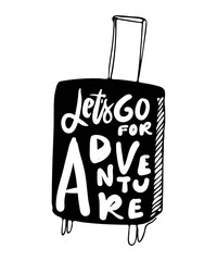 Let's go for adventure. Hand lettering for your design
