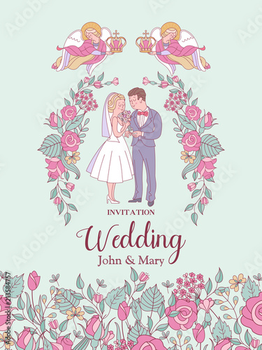 Happy weddings wedding ceremony wedding in church wedding card wedding ceremony wedding in church wedding card wedding invitation stopboris Choice Image