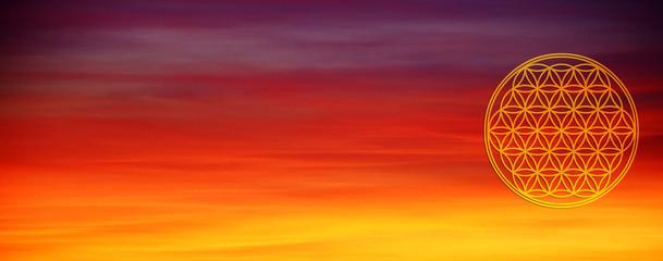 Banner Blume des Lebens - Kosmischeslicht