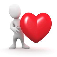 Vector 3d Heart man