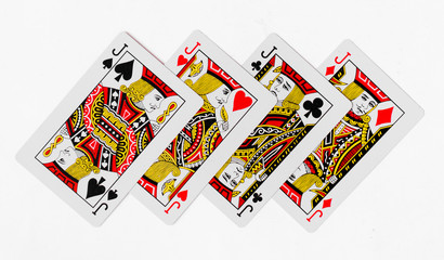 Playing Cards jack card and back white background mockup