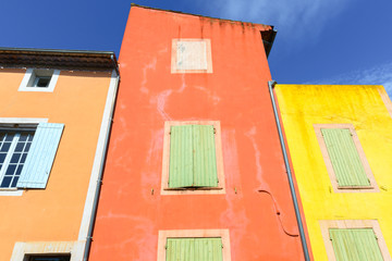 The colorful village of Roussillon, Provence, France