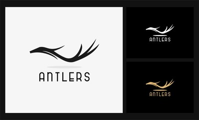 abstract antlers icon logo