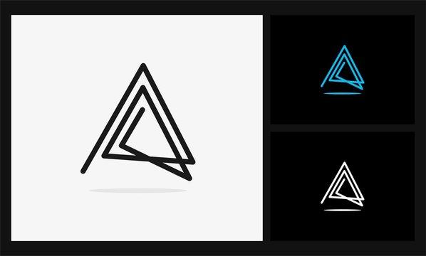 A triangle geometric logo