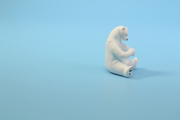 a theme of North Pole wildlife animal figure