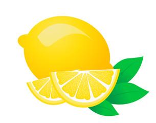 Fresh lemon fruits vector illustrations