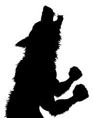 Werewolf Wolfman Halloween Silhouette