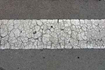 cracked road markings