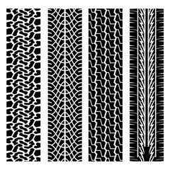 Black tire track set 3