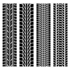 Black tire track set 4