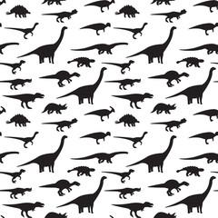 Seamless dinosaur pattern. Vector.