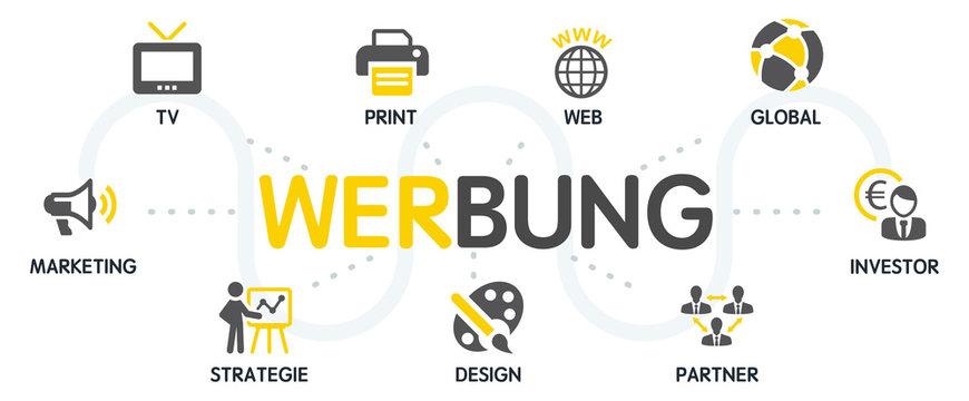 Werbung Vektor Grafik Icons Piktogramme
