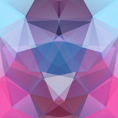 Abstract background consisting of pink, blue triangles. Geometric design for business presentations or web template banner flyer. Vector illustration