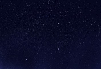 Night Starry Sky Background. Night View Of Natural Glowing Stars